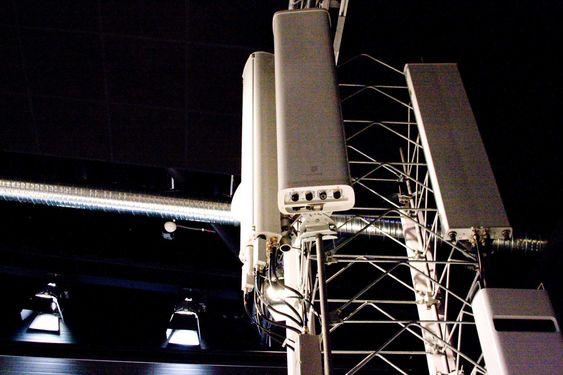 Slik kan en typisk mobilbasestasjon se ut.