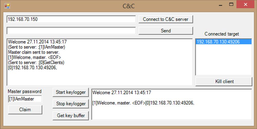 Først kobler hackeren til samme server som Java-appleten koblet til.