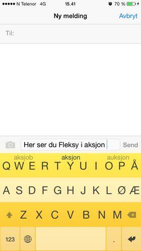 Fleksy.