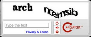 Slik ser den gamle reCAPTCHA-løsningen ut. Den nye har fått navnet No CAPTCHA reCAPTCHA.