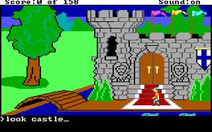 Skjermbilde fra det første King's Quest.