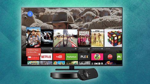 Slik ser standard Android ut på en TV. Sonys løsning blir ikke helt ulik.
