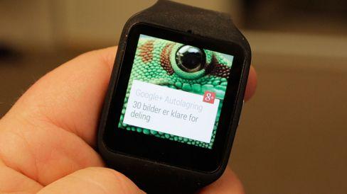 Du får informasjon på håndleddet om det meste smartmobilen foretar seg. .