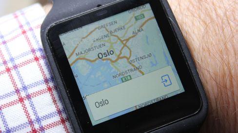 Dette dukket opp på skjermen når vi bare sa «Oslo».