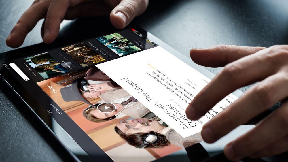 iPaden begynner å ta en rolle som TV nummer to. Her Canal Digitals nye grensesnitt.