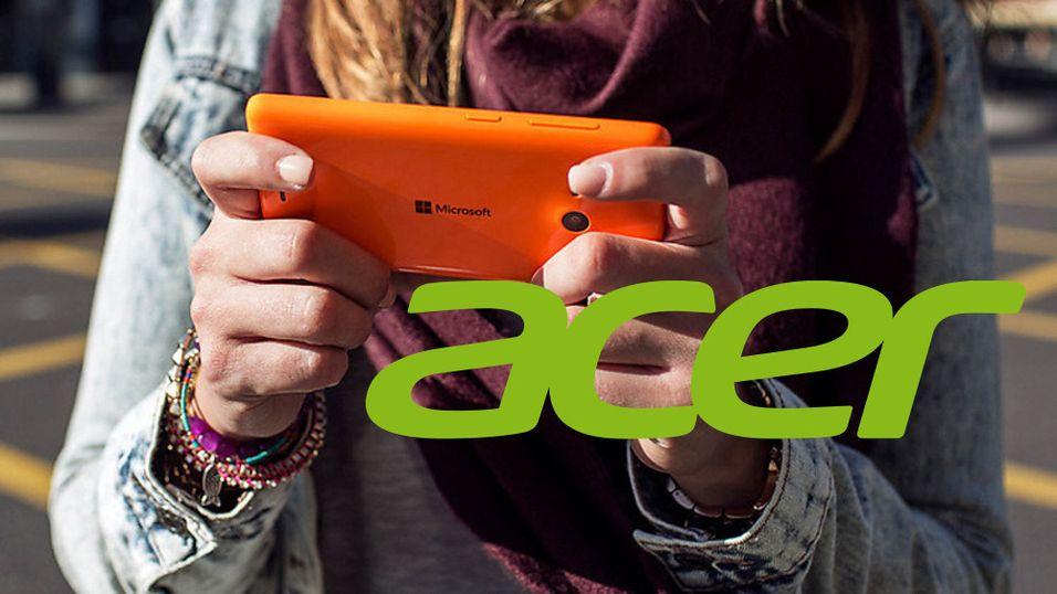 Nå kommer Acer tilbake med nye Windows Phone-telefoner