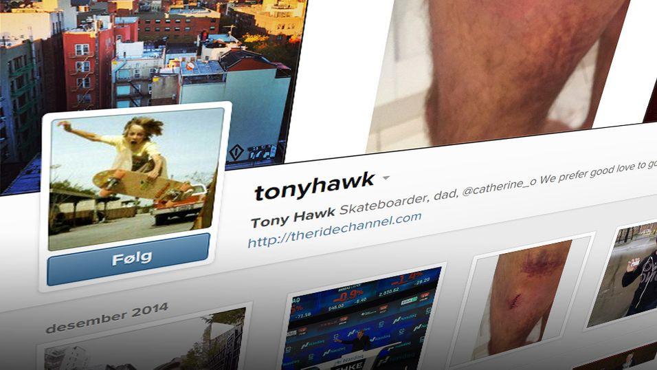 Skateboardlegenden Tony Hawk får snart et eget stempel, lover Instagram.