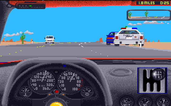 The Duel: Test Drive 2 på Amiga.