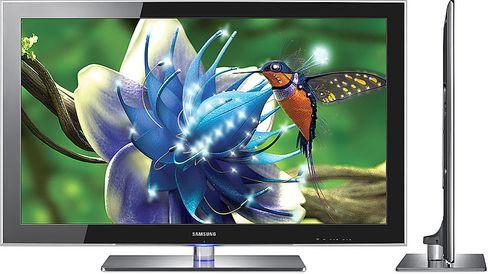 Inntoget av LED-baserte skjermer, som denne noe eldre Samsung-modellen, betød at skjermene kunne bli betraktelig tynnere enn de var før.