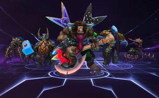 Et lite knippe av de figurene man kan spille som i Heroes of the Storm.