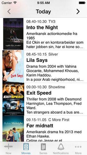 TVGuiden gir deg en kontinuerlig oversikt over programmene.