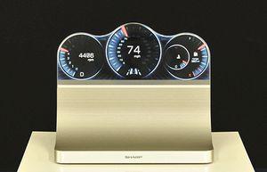 Sharps prototyper på Free-Form Display har så langt handlet mest om skjermer til bruk i bil.