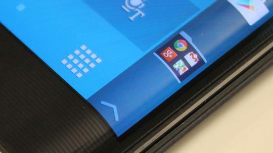 Snarveiene er plassert på sideskjermen. Her er ikonet som åpner for Google Apps menyen.