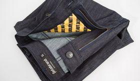 Slik ser de RFID-blokkerende buksene ut.