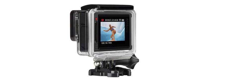GoPro Hero4 Silver kommer med innebygd berøringsskjerm.
