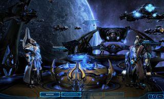 Skjermbilde fra kampanjen i StarCraft II: Legacy of the Void.