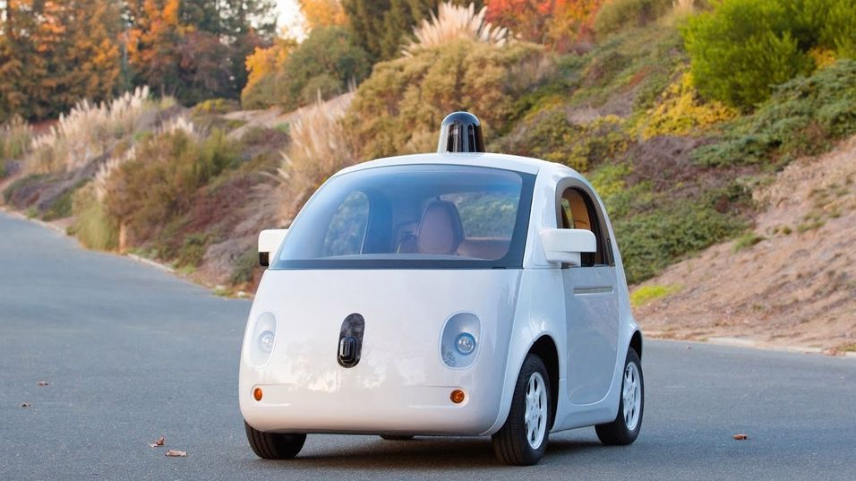 Prototypen på Googles selvkjørende bilmodell.
