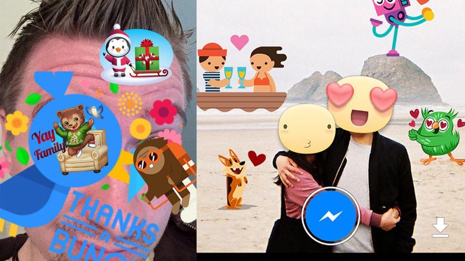 Send selfies med Facebooks nye app