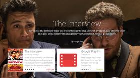 Google Play er blant stedene The Interview nå legges ut.