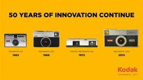Slik har Instamatic-serien utviklet seg opp gjennom årene.