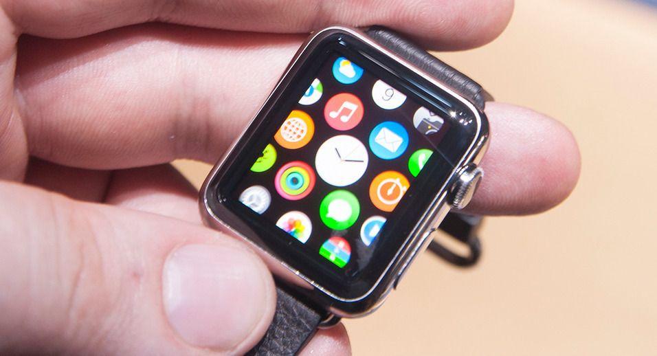 Bildet er fra da vi fikk en «sniktitt» av Apple Watch i fjor