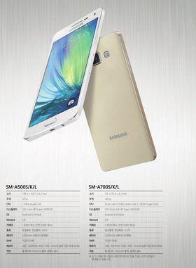 Dette skal være offisielle bilder og informasjon om Samsungs nye Galaxy A5 og A7.