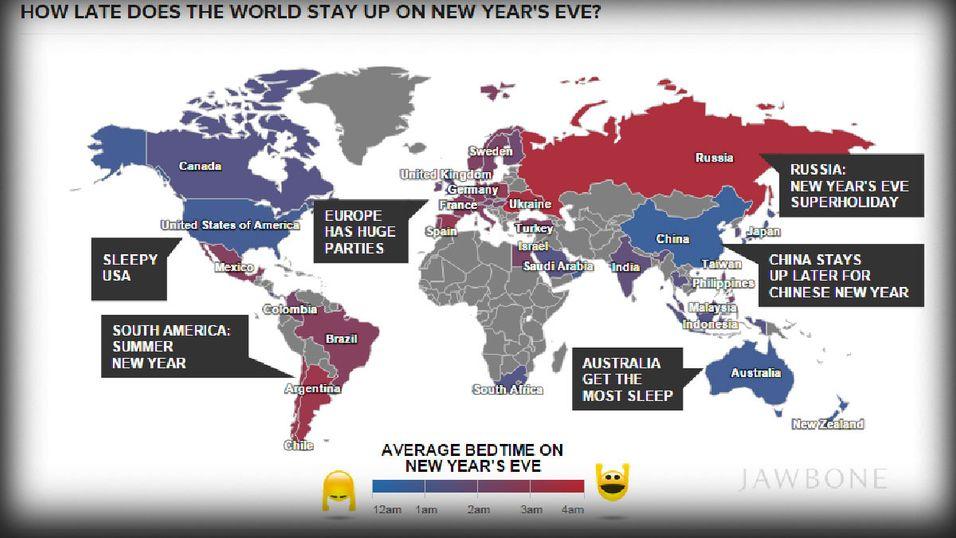 Disse landene festet hardest på nyttårsaften