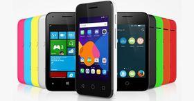 Det offisielle pressebildet fra Alcatel viser tydelig at Pixi 3 er en mobiltelefonserie utenom det vanlige.
