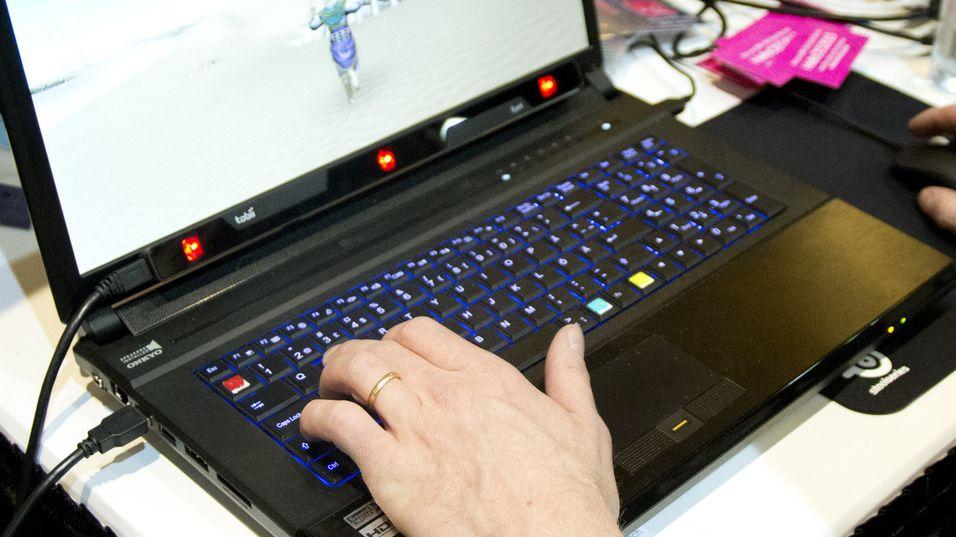 Sensoren kan blant annet bygges inn i bærbare PC-er. Dette bildet er fra vår test av systemet i januar.