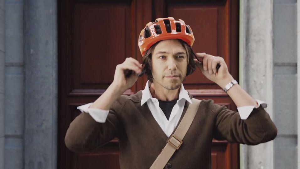 Har syklistene denne hjelmen på huet, vil du unngå å kjøre dem ned
