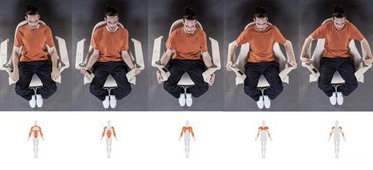 Du skal kunne utføre en rekke ulike øvelser i stolen.