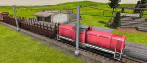 Vi har også fått nye vogner, for tømmertransport.