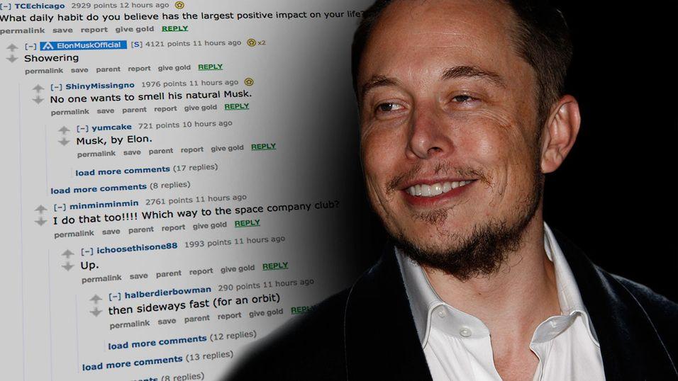 Dagens viktigste rutine? Å dusje, melder Elon Musk.