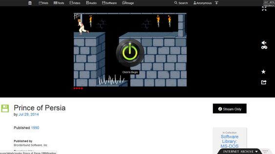 Trykk på start-knappen for å spille spillet i nettleseren. Velg fullskjerm for den beste spillopplevelsen.