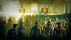 Endelause rekker med pliktoppfølgjande zombier.