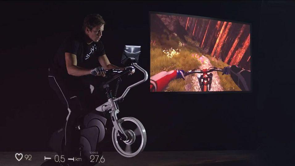 Denne tøffe smart-treningssykkelen er norsk