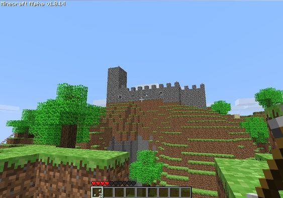 Bilde fra vårt første møte med Minecraft.