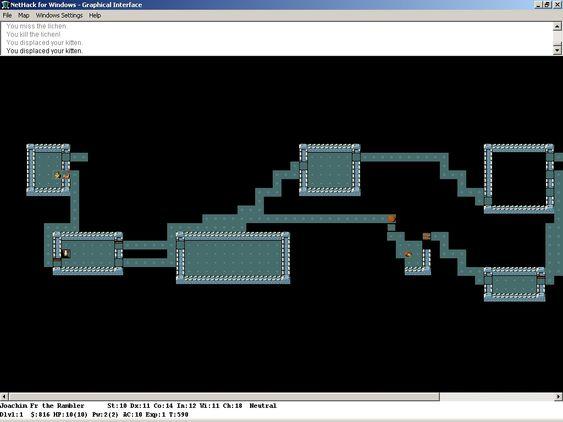 «Roguelike»-spillet Nethack.