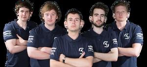 Her er SK Gamings Smite-lag. Fv. CaptainTwig, Badgah, Realzx, ManiaKK, Zyrhoes.