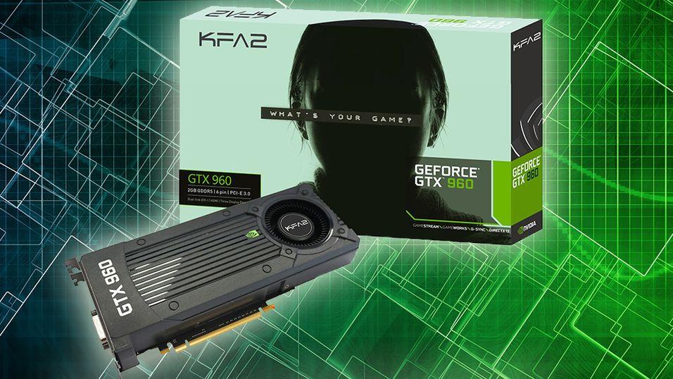 Dette er KFA2s referanseversjon av GeForce GTX 960.