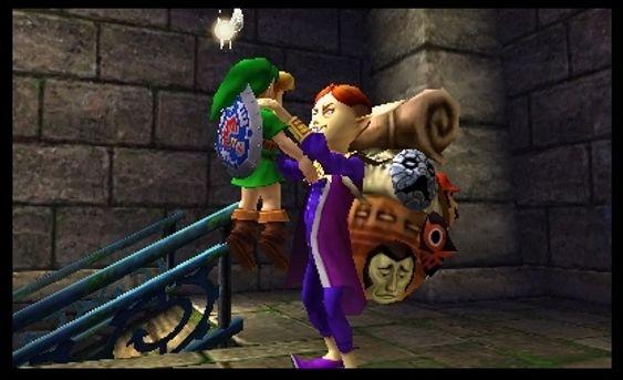Maskemannen, i tillegg til månen, er ganske «creepy» (Skjermbilde: Nintendo).