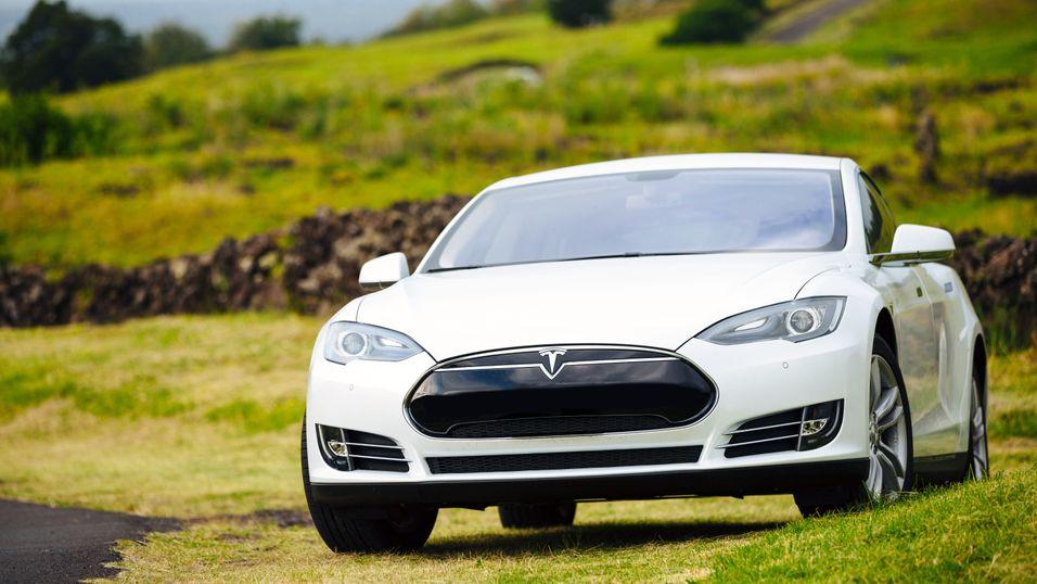 Illustrasjonsbilde. Dette er Tesla Model S.