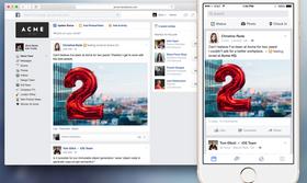 Slik ser grensesnittet til Facebook at Work ut.