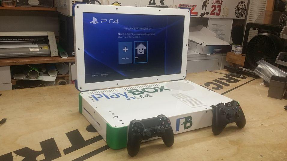 Denne «laptop-en» inneholder både PlayStation 4 og Xbox One