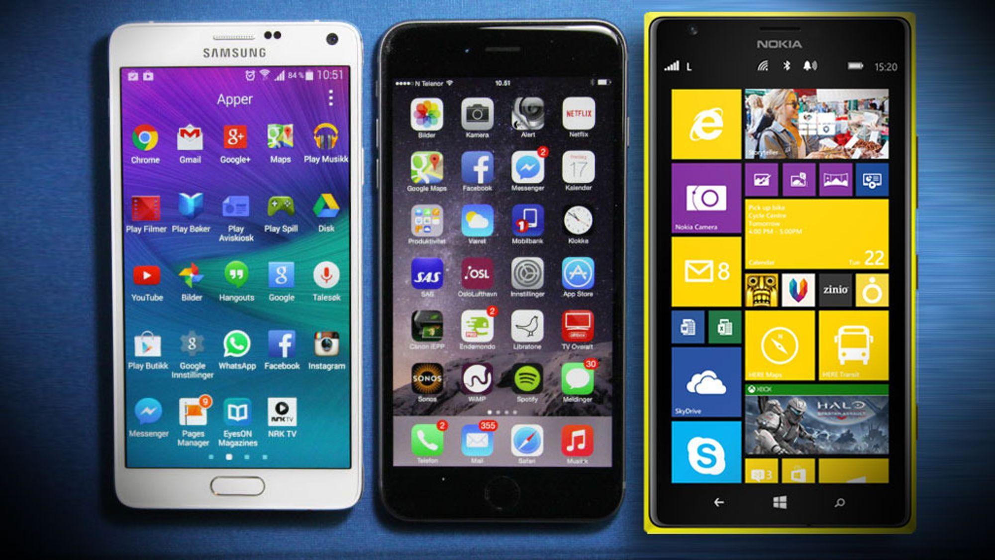 mobiltelefon uten binding