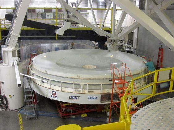 Speilet som skal benyttes i LSST-teleskopet.