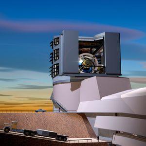Teleskopet på toppen av Cerro Pachón-fjellet.