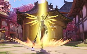 Mercy får ei hjelpande hand frå Blizzard.