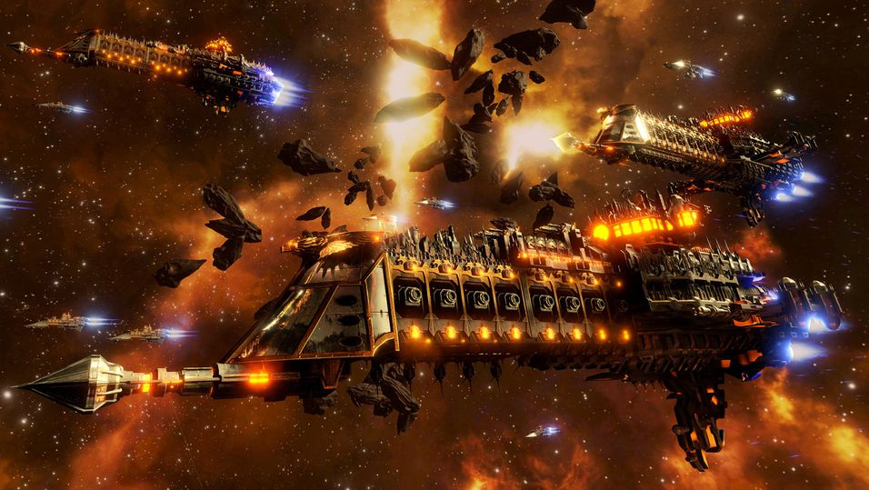 Homeworld-aktig romkrig i Warhammer 40,000-drakt