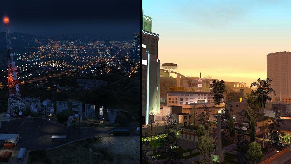 Grand Theft Auto V var mye større enn San Andreas.
